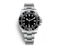 Luxury Watches Mens AAA Automatic 116610 Gold Black Watches Glide Lock Clasp Ceramic Bezel Chrono Da