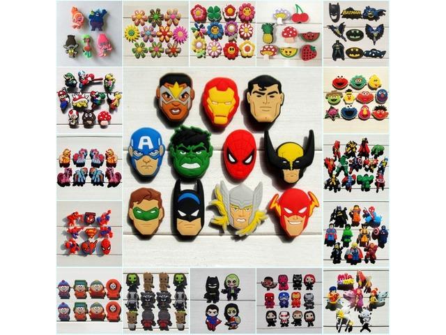 1000pcs Mario Avenger Super Hero Cartoon PVC Shoe Buckle Shoe Charm Fit Croc Shoes&Wristbands Ac   free-classifieds-usa.com