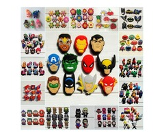 1000pcs Mario Avenger Super Hero Cartoon PVC Shoe Buckle Shoe Charm Fit Croc Shoes&Wristbands Ac