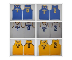 NCAA UCLA Bruins Jersey 2 Lonzo Ball 0 Russell Westbrook 42 Kevin Love Reggie Miller blue white yell