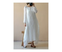 Tidebuy Ankle Length Long Sleeves Maxi Dress