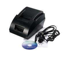 12V USB Mini 58mm POS ESC Thermal Dot Receipt Printer Set 384 Line with Roll Paper