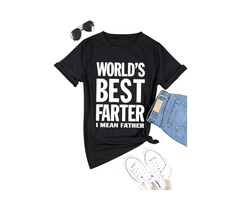 Father's Day Shirts Men Funny Letter Print Tees World's Best Father T-shirts