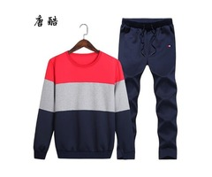 Plus Size 4XL Casual Men's Sportswear Set 2 Pieces Set Sweat shirts Men's Suits Mens Design Tracksui