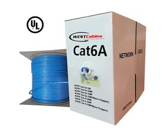 1000FT Cat6A Non Plenum Solid Copper UL Listed Network Cable
