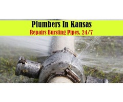 Plumbers In Kansas Repairs Bursting Pipes, 24/7