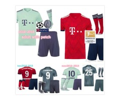 18 19 Bayern Munich Away Champions league third Kids soccer Jerseys adult kits man HOME TOLISSO 24 L