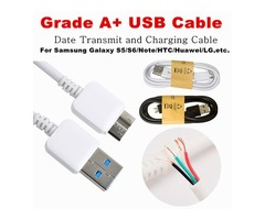 Type C Micro USB Cable Note 3 4 Cable 1m 3.0 Sync Data Android Charging Charger Cable adapter Wired