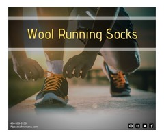 Comfortable Wool Running Socks - Alpacas of Montana
