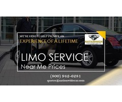 Limo Service Near Me Prices