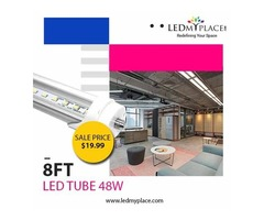 Replace 8ft Fluorescent Tube with 8ft LED Tube to Save More