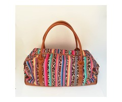 Serape Leopard Duffle Bag Wholesale Blanks Color Stripe Weekender Totes Canvas Travel Bag with Shoul