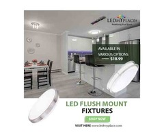 Shop Now!!! LED Flush Mount Fixtures For Your Indoor Space Offered By LEDMyplace