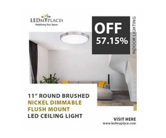 Fix 11'' Single Ring LED Flush Mounts Inside Your Homes To Have Classy Ambiance