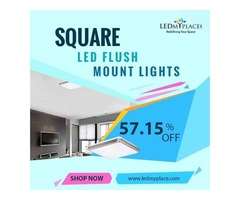 Install Square LED Flush Mount Light To Make Homes More Beautiful