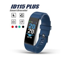 ID 115 Plus Smart Bracelet Smart Sport Wristband Fitness Activity Tracker Pedometer Heart Rate Blood