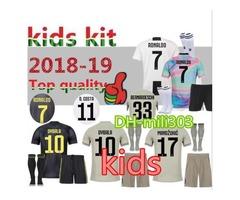 Juventus RONALDO DYBALA HIGUAIN kids kit soccer jersey 2018-19 juve MARCHISIO MANDZUKIC CHIELL