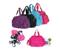 LANDUO Large Baby Changing Bag Infant Mummy Diaper Nappy Shoulder Handbag 5 in 1