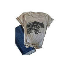 Summer Mama Floral O-Neck T-Shirt Short Sleeve Grey Cotton Tee Plus Size