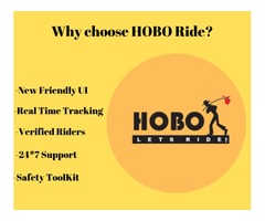 At HOBO Ride the prime focus has always been easy to use and simple user experience.