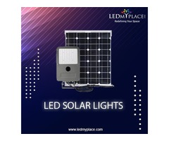 Save 100% Energy by Install LED Solar Light