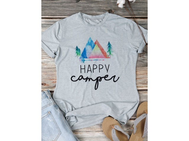 Casual Graphic Letter Print T-shirt | free-classifieds-usa.com