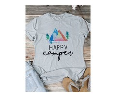 Casual Graphic Letter Print T-shirt
