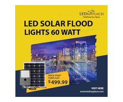 Maximize The Energy Efficiency By Installing 60w LED Solar Flood Light At Outdoor Locations