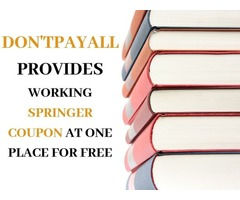 Springer Coupon: For Inexpensive Books