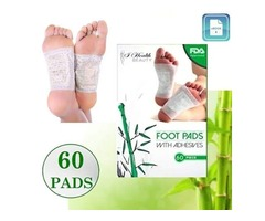 Foot Pads | All Natural Body Cleansing | 60 Pain + | 100% Organic and Natural FEET Patch
