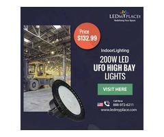200W LED UFO High Bay Lights! Better Indoor Commercial Lighting