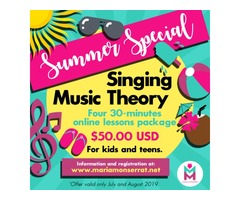 Singing & Music Theory Online Lessons - Summer Special!