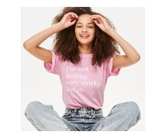 Round Neck Letter Print Street Short Sleeve Top T-shirt I'm not feeling very worky today