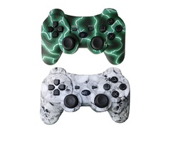 Ps3 Controller Wireless Bluetooth Controller custom gamepad with 400mah battery inside (green and sk