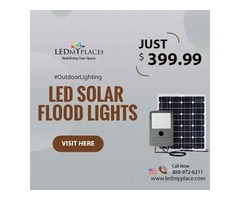 You Can Lighten the Outdoor Places By Installing LED Solar Flood Lights ( LED Solar Flood Lights )