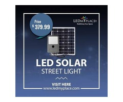 Install Highly Efficient LED Solar Street Lights At The Outdoor Places  (LED Solar Street Lights)