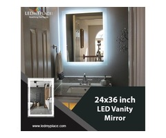 Stay Attractive all the Time by Installing 24x36 Inch LED Vanity Mirrors Inside Bathrooms