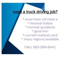 Truck Driver CDL Class A