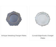 Bulk Wedding Charger Plates Online | Fulinartware.com