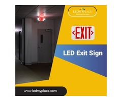 Install Now (LED Emergency Exit Sign) for Safety Purpose