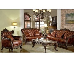Buy Arthur Traditional Living Room Set in Brown | Get.Furniture