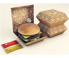We provide High-Quality Burger packaging boxes Wholesale