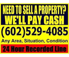 Need to sell a property? We'll pay cash!