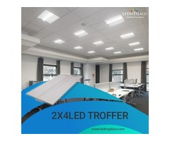 (2x4 LED Troffer) For Maximum Light Efficiency At Workplace