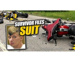 Survivor Of NH Motorcycle Crash Files Lawsuit Against Driver, Transport Company