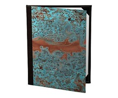 Patina Copper Menu Covers | The Menu Shop