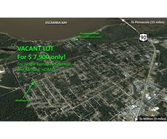 7,500 sqft of VACANT LAND in PACE, FL – Owner Financing available