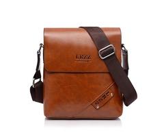 Men Business PU Casual Shoulder Messenger Briefcase Crossbody bag