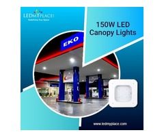 Install LED Canopy Lights that come with 50,000 hours of Life at the Gas Stations