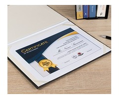 Buy USA Best Stationery - Leatherette Certificate Holder, Certificate Covers, School Diploma Covers